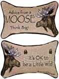 Manual The Lodge Collection Reversible Throw Pillow, 12.5 X 8.5-Inch, Advice from a Moose X Your True Nature