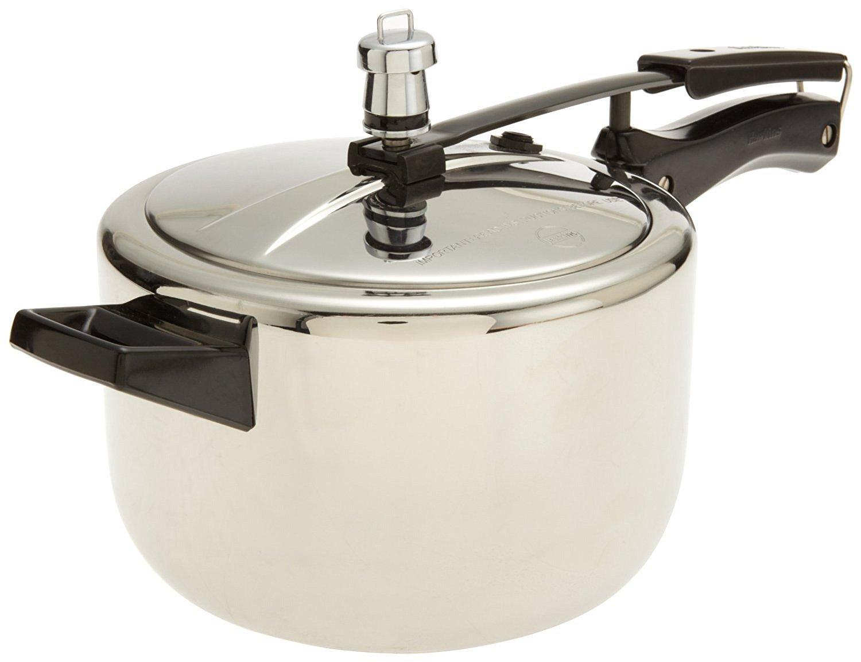 Hawkins HS4L Stainless Steel Pressure Cooker, 4-Liter