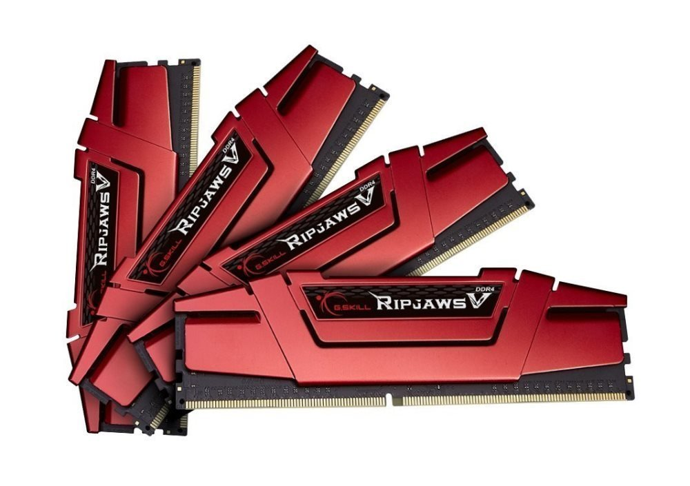 Memoria RAM 16GB G.Skill Ripjaws V Series 4 x 4GB 288Pin SDRAM DDR4 2400 (PC4 19200) Intel Z170/X99 F4-2400C15Q-16GVR