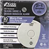 Kidde 380-I12010S-CO-CA 120V Smoke & Co Alarm with 10-Yr, White