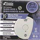 Kidde 380-I12010S-CO-CA 120V Smoke & Co Alarmwith 10-Yr, White