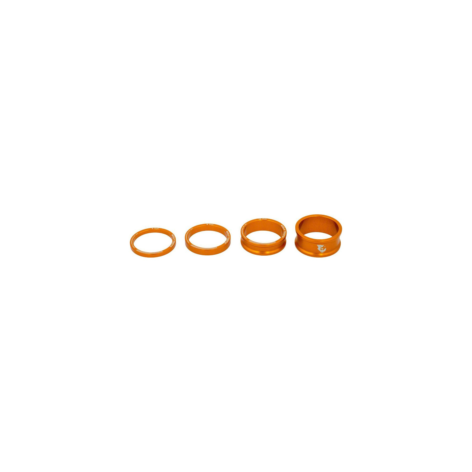 Wolf Tooth Components Headset Spacer Kit Orange, One Size by Wolf Tooth Components
