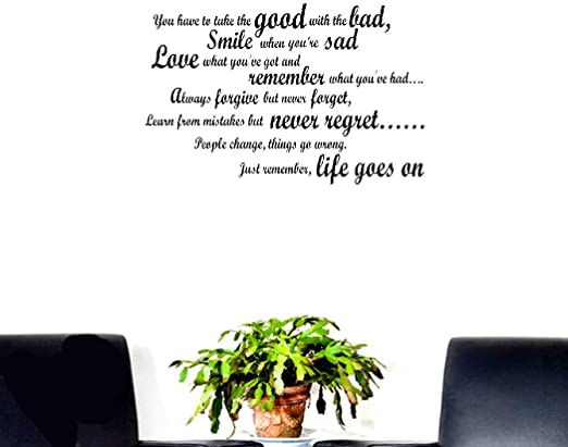 com seary wall sticker inspirational quotes smile when you