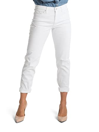 Spanx Slim-X Casual Cuffed Jeans SD3615 White at Amazon Women&39s