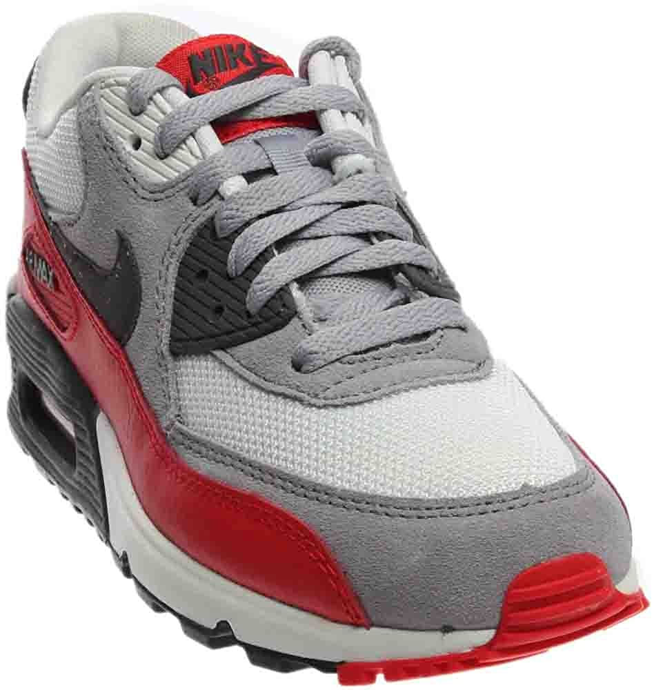 NIKE Air Max 90 Grey White Youths Trainers 705499 003