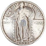 """Concho Antique Silver Screwback .75"""", Liberty Quarter"""