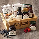Stonewall Kitchen Berry Breakfast Gift Basket (9 Piece Wood Gift Box Set)