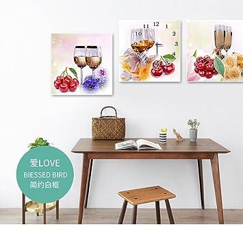 Genial GUAZ Wanduhr Moderne Einfache No Frame Malerei Uhr Frisches Obst Glas  Wanduhr Kunstuhr Stille Nicht