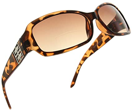 8355afe4575 Fiore Bifocal Rectangle Reading Sunglasses Readers for Women  Brown Tortoise