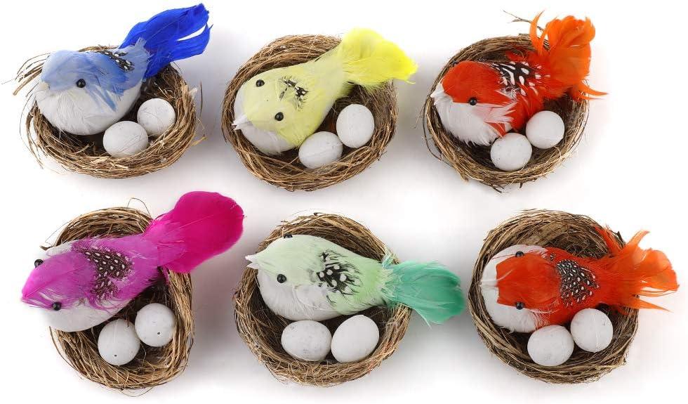 PRETYZOOM 50 St/ück Ostern Schaum Vogel Eier Spielzeug K/ünstliche Vogeleier Malerei Requisite Party Dekoration Gelb