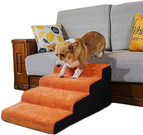 Escaleras para Mascotas de 4 Pasos para Escalar Cama y sofá, rampa de Escalera para Perros/Gatos Antideslizante de Pana con Funda Lavable, Soporte de 75 kg (Size : 4 Step 40cm): Amazon.es: Hogar