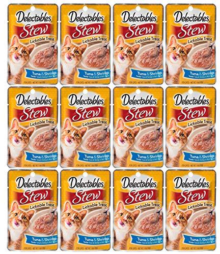 Delectables Stew Lickable Wet Cat Treats - Tuna & Shrimp - 12 Pack ()