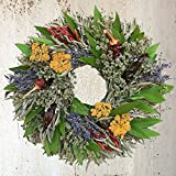 "Chili Herb Natural Dried and Preserved Wreath (16""')"