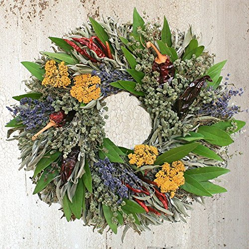 Chili Herb Natural Dried and Preserved Wreath (16''')