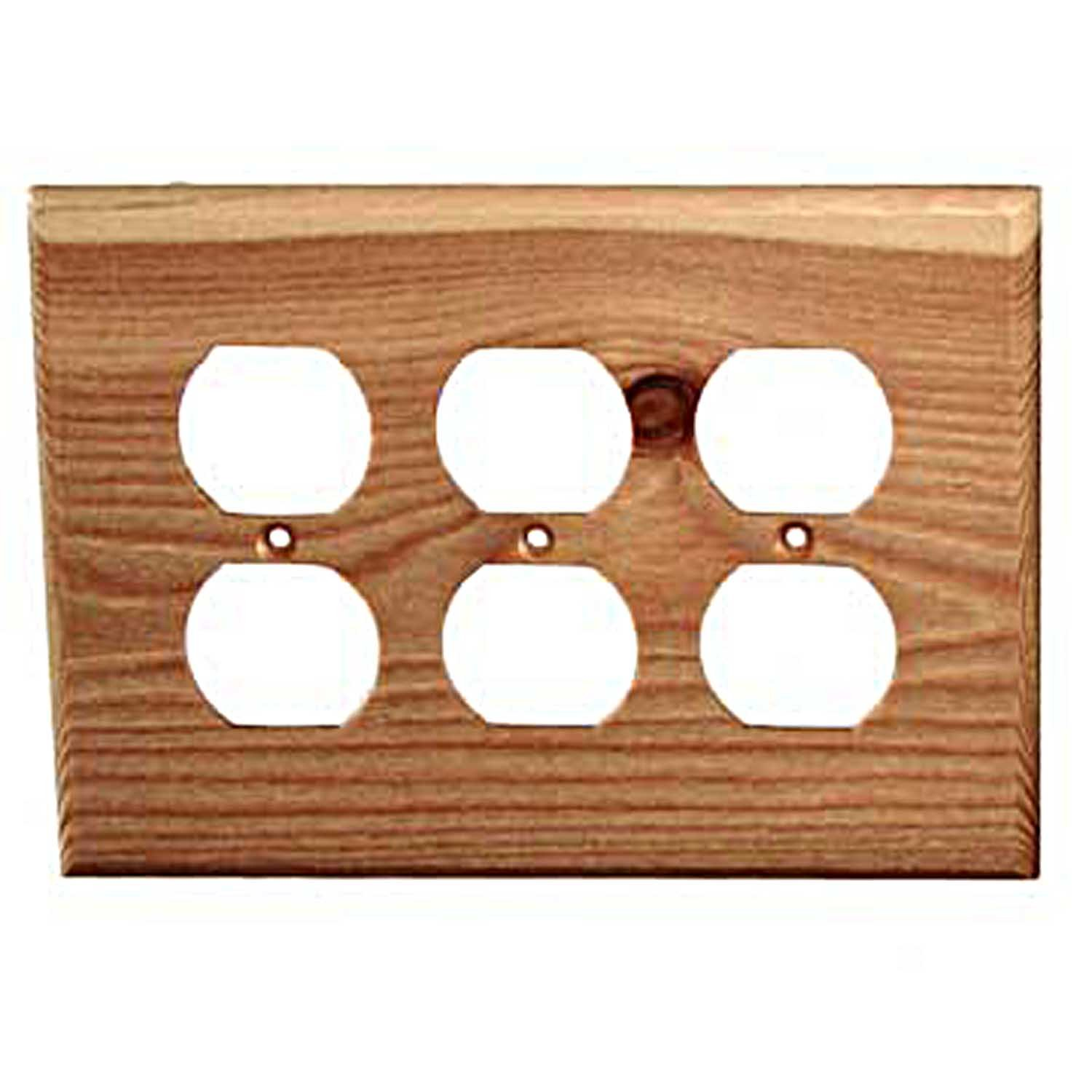 Sierra Lifestyles Traditional Switch Plate, 3 Duplex, Douglas Fir by Sierra Lifestyles B0062W5S9S