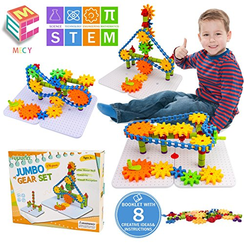 STEM Learning Toys | Creative Construction Engineering | Original 170 Piece Educational Building Blocks Set For Boys And Girls Ages 3 4 5 6 7 8 Year Old | Creative Game Kit | Best Toy For Kids