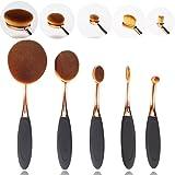 NESA Makeup Brush 5 Pcs Cosmetic Oval Toothbrush Blush Powder Foundation Beauty Eyeshadow Brushes Set+Makeup Sponge