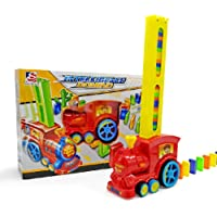 Apostasi Domino Rally Electronic Train Model, Colorful Toy Set Girl Boy Children Kids Gift, Sound and Light Automatic Chess Educational Engineering Toy Set Suitable for Boys and Girls Aged 3 and Over