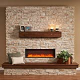 Outdoor Greatroom Gallery Collection Linear Supercast Wood Mantel