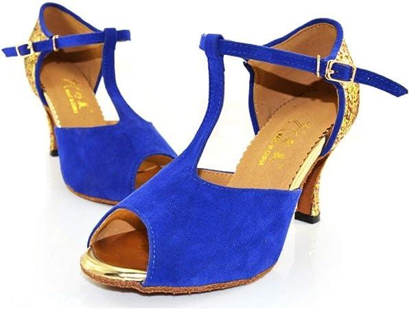 Fuxitoggo Chaussures de Danse Latine pour Femmes, Chaussures