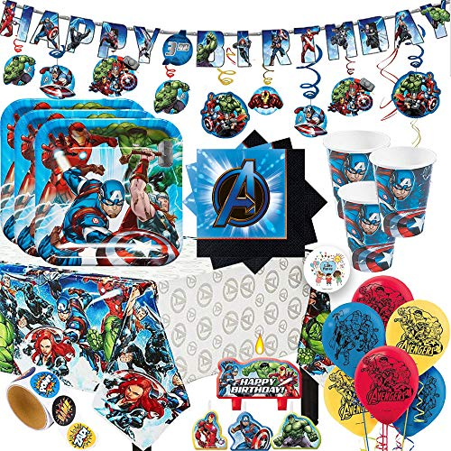 MEGA Avengers Birthday Party Supplies Pack with Decorations