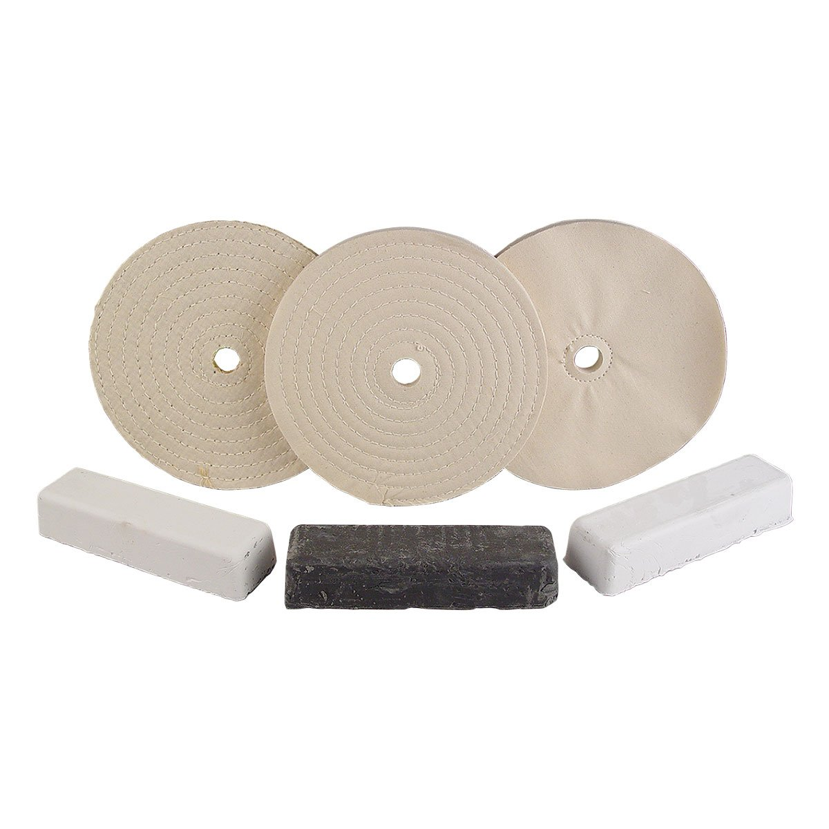 8'' Stainless Buffing Set 8455-136, Fits 3/4''-7/8'' Arbor Hole, Made in USA by TP Tools