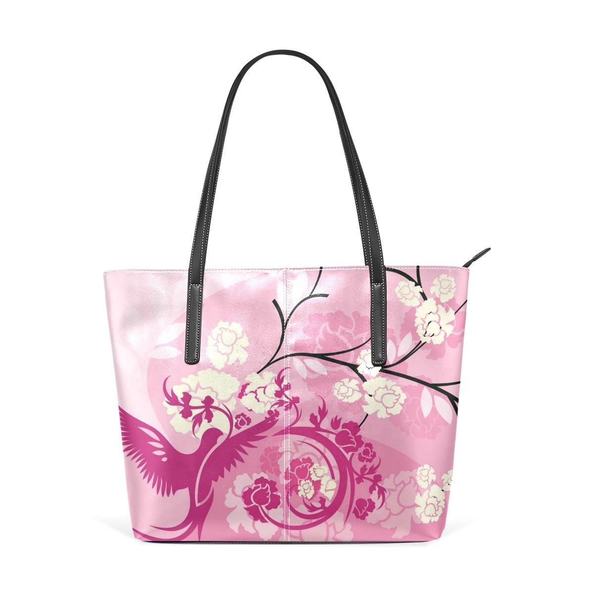 Women Leather Handbags Pink Phenix Top Handle Shoulder Bags