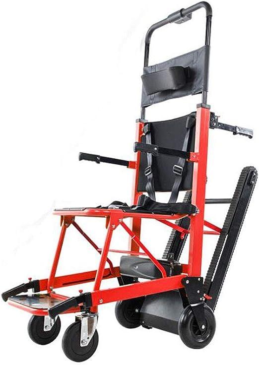 La silla de ruedas eléctrica plegable puede subir escaleras. Silla de ruedas portátil. Viaje ligero, para discapacitados y ancianos. Sube y baja la escalera completamente automática.,Rojo: Amazon.es: Hogar