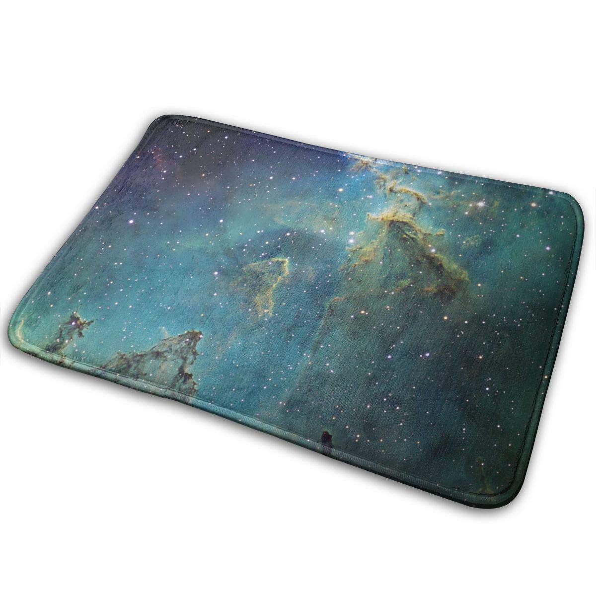 W X 19.7 Inch L Blue Green Universe,Non-Slip Machine Washable Door Mats Home Decor Rug Floor Mat Thicken Playmat Multi-Purpose Floorcover 31.5