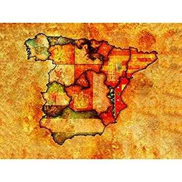 Amazon.de: MAPS SPANISH REGIONS SPAIN COAT ARMS CREST FLAG DESIGN ...