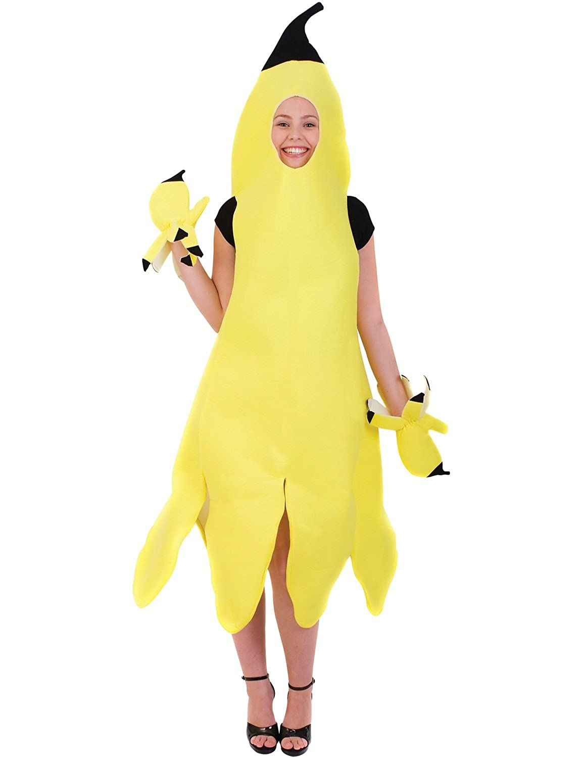 sc 1 st  Amazon UK & Adult Banana Girl Fancy Dress Costume: Amazon.co.uk: Clothing