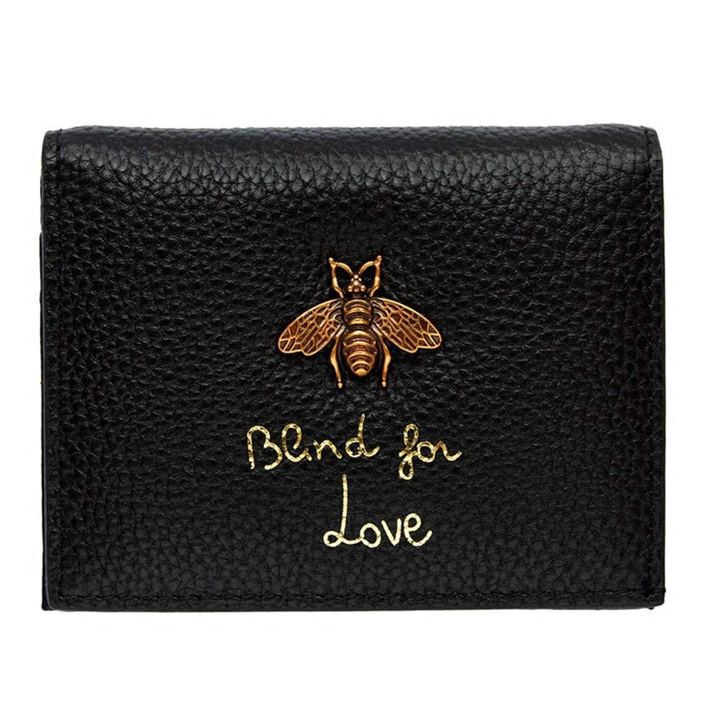 H-M-STUDIO Damen Geldbörsenpaar Mini Einfache Biene Kurze Leder Geldbörse, C, Dunkelgrün B07NSR2HP5 Geldbrsen