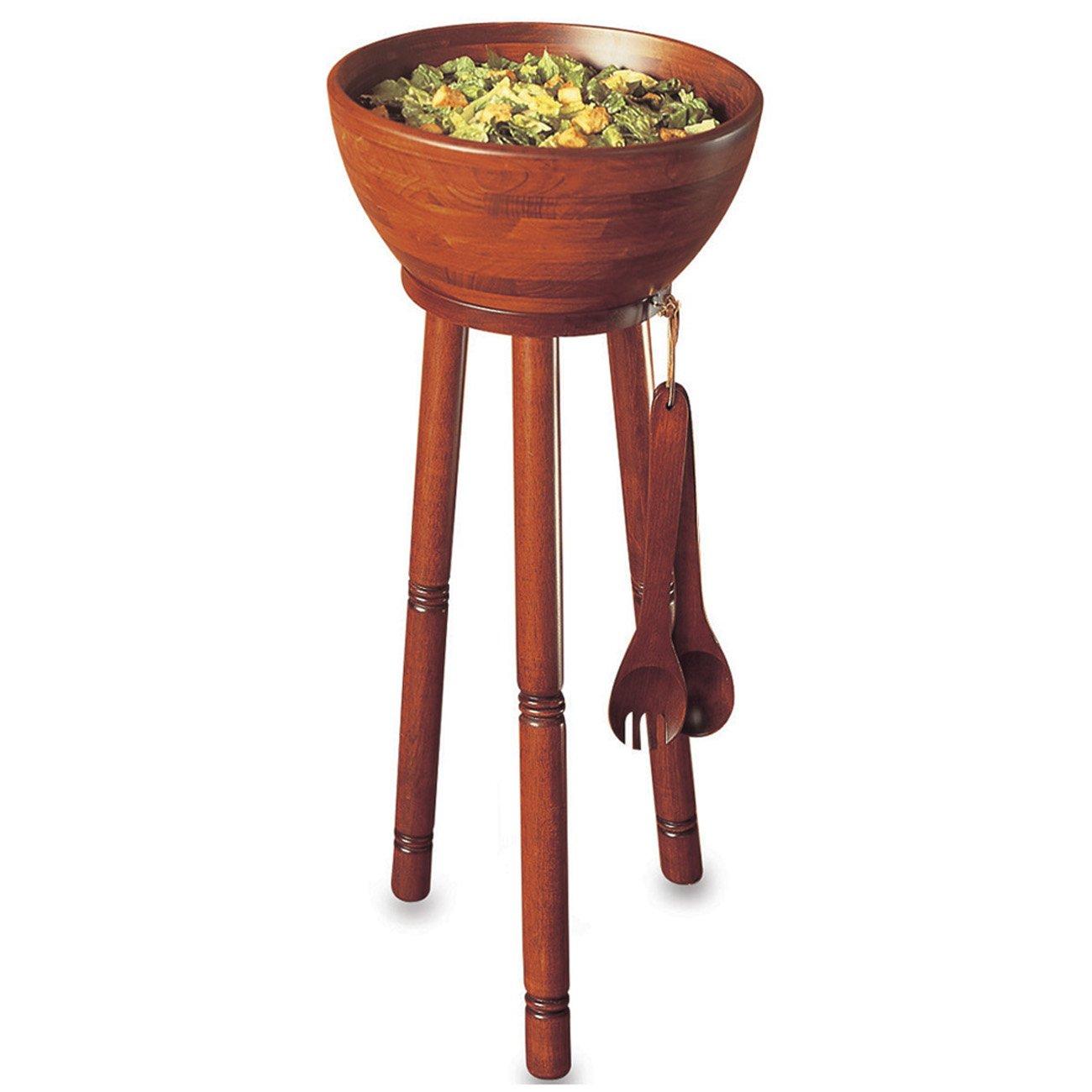 Woodard & Charles WC560-3 Stand & Salad Bowl Set, Cherry