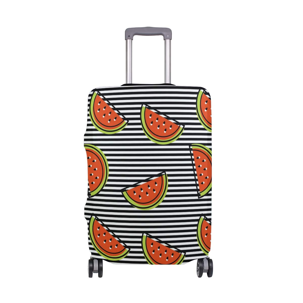 Baggage Covers Red Summer Watermelon Black Stripes Washable Protective Case