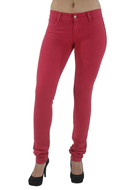 81d10d674c263 Amazon.com: Basic pants skinny leg French Terry Jeggings style Moleton,  With a gentle butt lifting stitching in Magenta Size S: Clothing