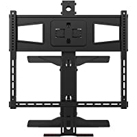 Monoprice Above Fireplace Pull-Down Full-Motion TV Wall Mount for TVs 40in to 63in Max Weight 70.5lbs VESA Patterns Up to 600x400 Rotating Height Adjustable