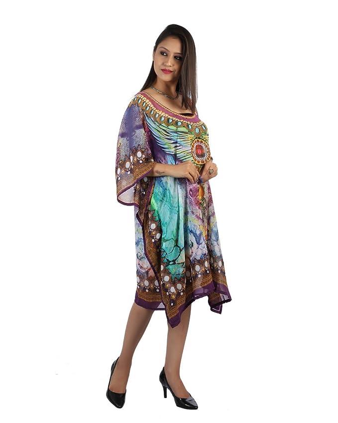Bayside Barcelona Morado Caftan de Las Mujeres de la Digital Kimono Ropa de Playa de Verano Vestido de Fiesta: Amazon.es: Electrónica