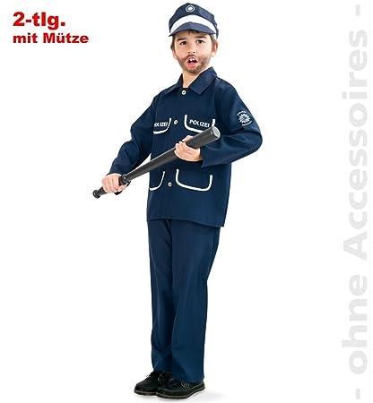Policía Petersen azul 2 tlg con disfraz de policía sombrero ...
