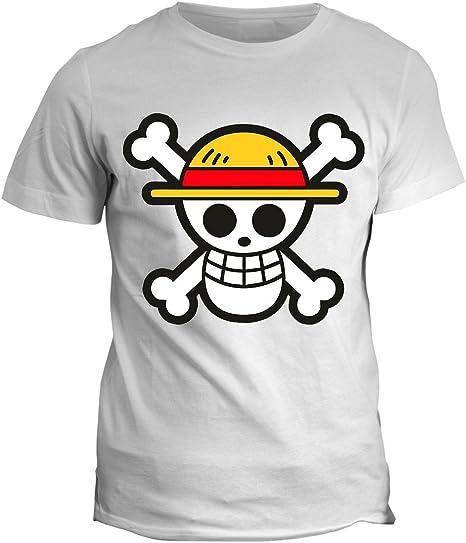 Tshirt One Piece, Calavera Pirata – One Skull - Dibujos animados – Todas las Tallas Hombre Mujer Niño, Bianco: Amazon.es: Deportes y aire libre