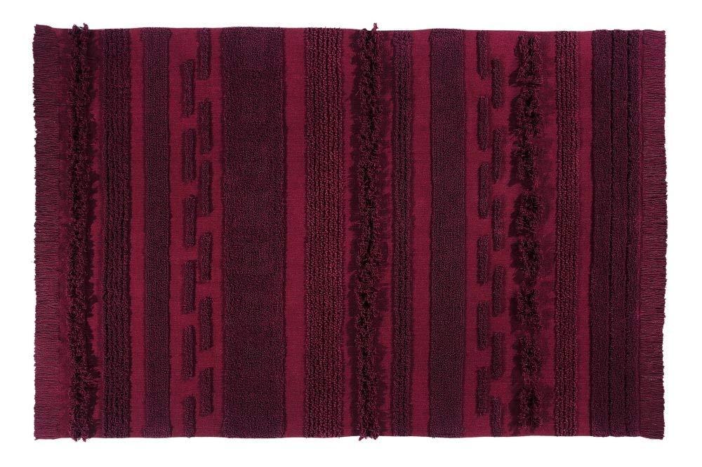 Lorena Canals Waschbarer Teppich Air Savannah Red Natürliche Baumwolle -Weinrote- 140x200 cm