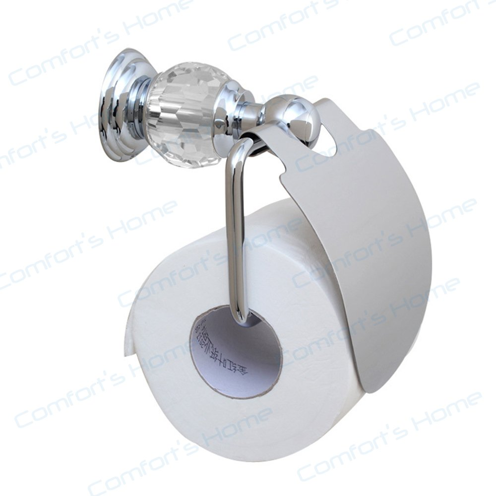 Comfort's Home TP4036C Toilet Paper Holders, Crystal Style Bathroom Accessories Wall Mount Toilet Tissue Holder, Chrome by Home Comforts (Image #2)