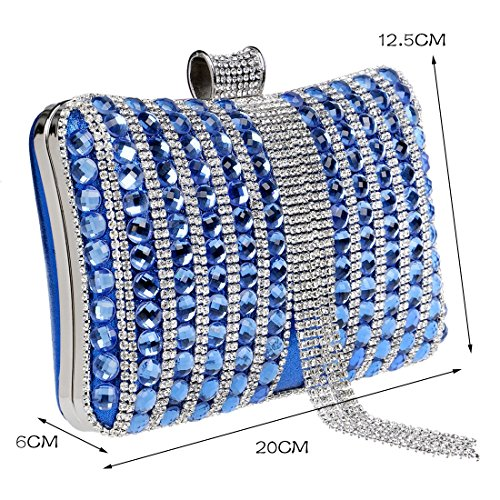 Fashion Black Handbags Bag Diamonds Metal Color Evening Wedding Party Beaded Women Candy Tassel Clutch Messenger KYS Bag avSPR
