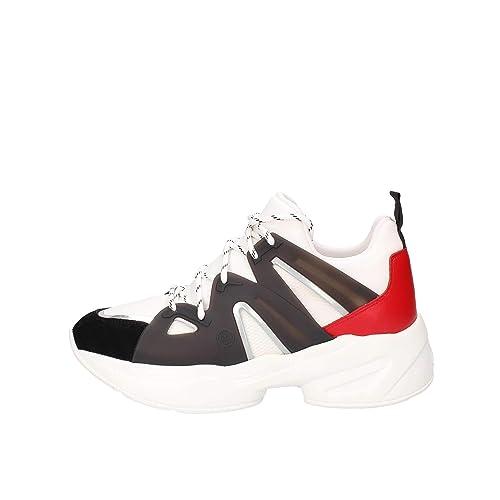 Liu Jo Jog 07-Sock Sneaker Black/White/Rouge, Zapatillas para Mujer: Amazon.es: Zapatos y complementos