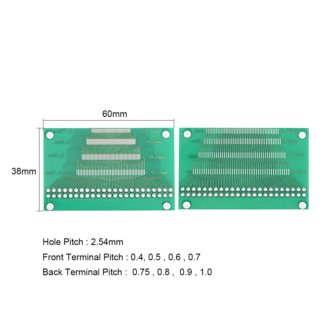 Sourcingmap Lcm Tft Lcd Ltft 46 Pin Multi Pitch Pcb Test Board 5pcs 10 Pcs 50mmx70mm Single Side Copper Cover Circuit Stripboard Diy Tools