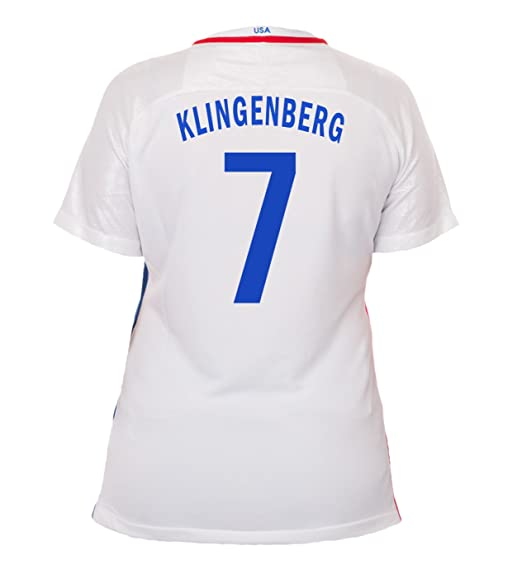95858439f5d Nike Klingenberg  7 USA Home Soccer Jersey Rio 2016 Olympics Women s ...