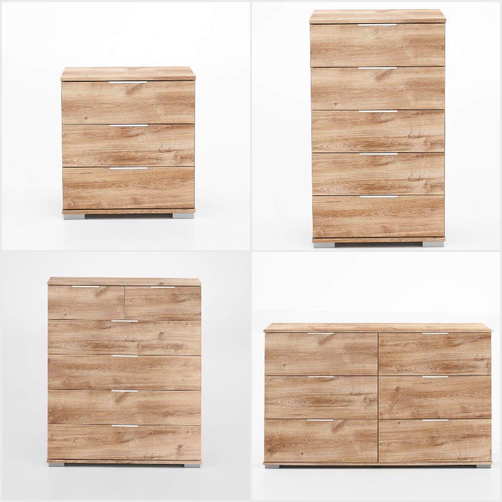 d03ff1105f3 SlumberHaus German Brussels Rustic Oak Bedroom 313cm Sliding Wardrobe   Amazon.co.uk  Kitchen   Home