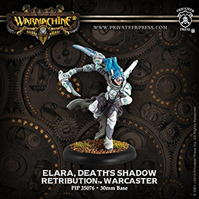 Warmachine Retribution: Elara, Death's Shadow Warcaster from Privateer Press