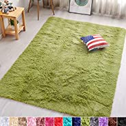 PAGISOFE Super Soft Comfy Shaggy Area Rugs for Bedrooms Living Room Fluffy Carpets Floor Fur Rugs for Girls Bo