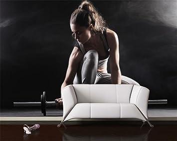 ShAH Papel Tapiz 3D Personalizadas Mancuernas Fitness Pared De Fondo Foto Papel Tapiz De Pared Gimnasio Restaurante Decoracion Papel Pintado Wallpaper ...