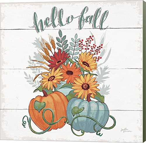 Fall Fun II - Gray and Blue Pumpkin by Janelle Penner